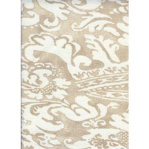 302850F BROMONTE REVERSE Taupe on Tint Quadrille Fabric