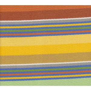 7280-04 CABANA STRIPE Multi Oranges Greens Yellow Quadrille Fabric