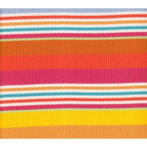 7280-02 CABANA STRIPE Multi Pink Orange Yellow Quadrille Fabric