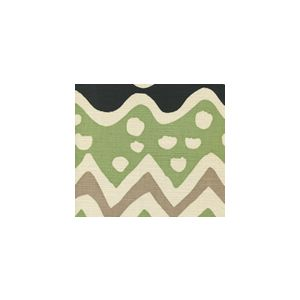 AC103-19SUN CAP FERRAT Jungle Green Taupe Quadrille Fabric