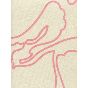 CP1060-01 CAPRI Soft Pink on Tan Linen Quadrille Fabric