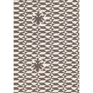 302237F CARLO II Brown on Curtain Weight Quadrille Fabric