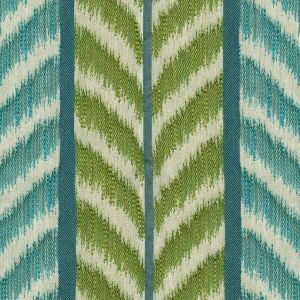 030022T CAROUSEL Green Turquoise Quadrille Fabric