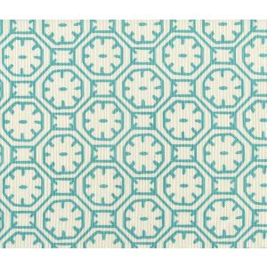 8150-01 CEYLON BATIK Turquoise on Tint Quadrille Fabric