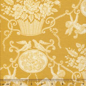 1423-04 CHERUBINS TOILE Gold Quadrille Fabric