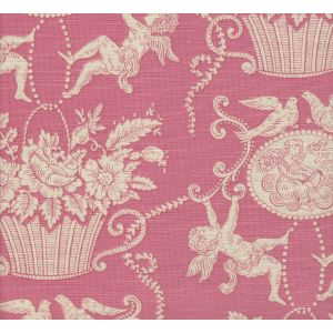 1423-02 CHERUBINS TOILE Rose Quadrille Fabric