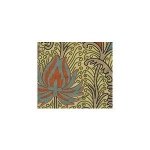 HC1270T-01SUN CONTESSA Multi Turqouise Orange Olive Quadrille Fabric