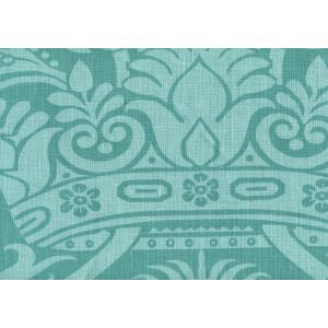 306174F CORINTHE DAMASK REVERSE Light Turquoise on Dark Turquoise Quadrille Fabric