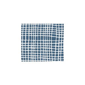AC403-19W CRISS CROSS Navy on White Quadrille Fabric