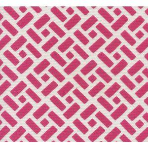 2220-24SUN EDO Magenta on White  Quadrille Fabric