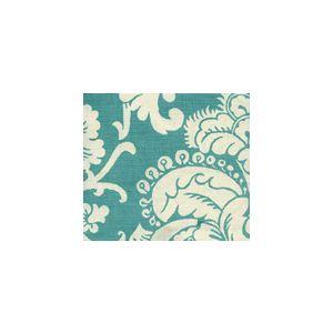 302176F ESTE REVERSE Turquoise on Tint Quadrille Fabric