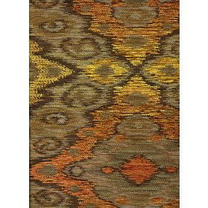 010981T FANTASIA Multi Taupe Orange Brown Quadrille Fabric