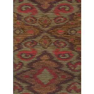 010982T FANTASIA Multi Terracotta Brown Quadrille Fabric