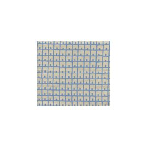 4040-09 FEZ BACKGROUND French Blue on Tan Quadrille Fabric