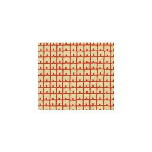 4040-05 FEZ BACKGROUND New Shrimp on Tan Quadrille Fabric
