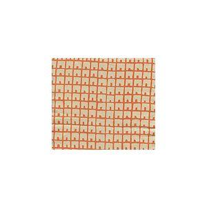 4040-12 FEZ BACKGROUND Orange on Tan Quadrille Fabric