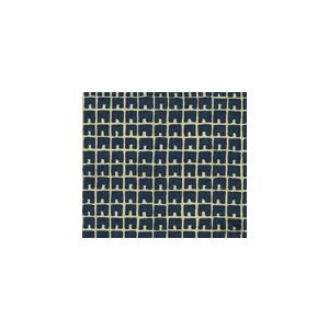 4045-18 FEZ II Navy on Tan Quadrille Fabric