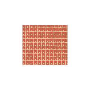 4045-05 FEZ II New Shrimp on Tan Quadrille Fabric