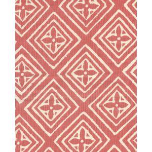 2490-08 FIORENTINA New Shrimp on Tint Quadrille Fabric