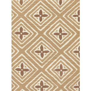2500-04 FIORENTINA TWO COLOR Camel Dark Tan Quadrille Fabric