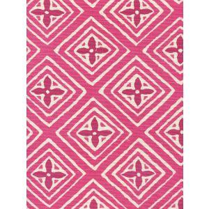 2500-11 FIORENTINA TWO COLOR Fuschia Magenta Quadrille Fabric
