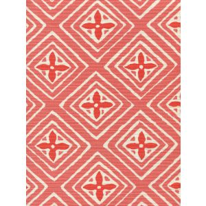 2500-08 FIORENTINA TWO COLOR Shrimp Orange Quadrille Fabric