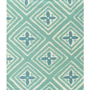 2500-09 FIORENTINA TWO COLOR Turquoise Dark Turquoise Quadrille Fabric