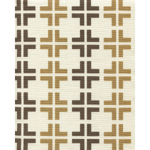 8110-07 FROWICK Brown Camel on Tint Quadrille Fabric