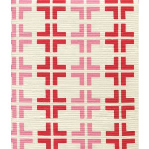 8110-05 FROWICK Red Pink on Tint Quadrille Fabric