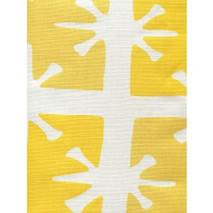 8095-01WLC GEORGIA LARGE SCALE Sunflower Yellow on White Custom Only Quadrille Fabric
