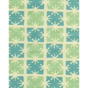 8090-04 GEORGIA SMALL SCALE Aqua Turquoise on Tint Quadrille Fabric
