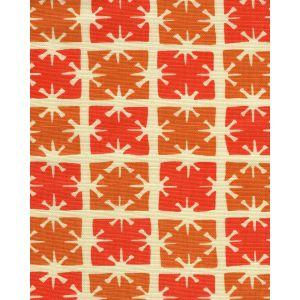 8090-08 GEORGIA SMALL SCALE Tangerine Orange on Tint Quadrille Fabric