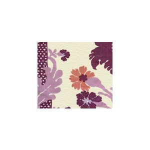302043F-CU HENRIOT FLORAL Lilacs on Ecru Quadrille Fabric