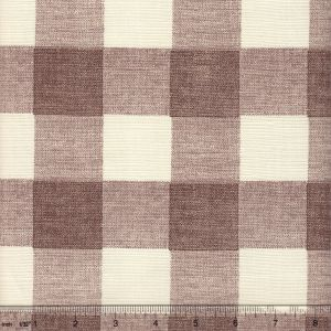 302529F HINGHAM PLAID Brown on Tint Quadrille Fabric