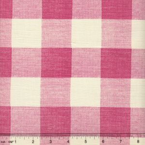 302525F HINGHAM PLAID Magenta on Tint Quadrille Fabric