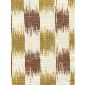9015-06 II BLUE IKAT Camel Tobacco on Tint Quadrille Fabric