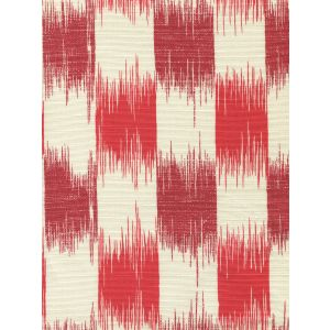 9015-08 II BLUE IKAT Coral Merlot on Tint Quadrille Fabric