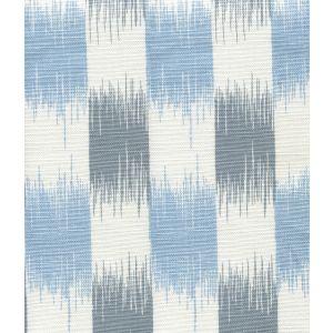 9015-02WLC II BLUE IKAT Grayish Windsor on White Quadrille Fabric