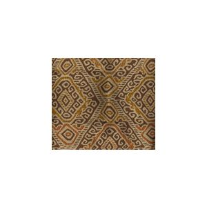 009833T INCA Multi Orange Gold Brown Quadrille Fabric