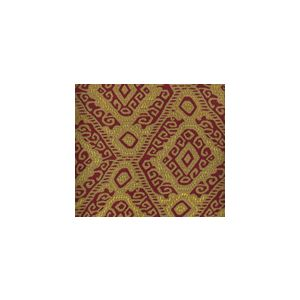 009832T INCA Multi Reds Tan Quadrille Fabric