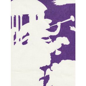 302722F-CU INDEPENDENCE BACKGROUND Purple on Tint Quadrille Fabric