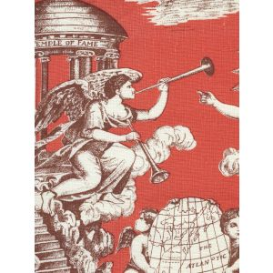 302289F-CU INDEPENDENCE TOILE Siena Burnt Orange on Linen Quadrille Fabric