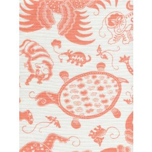 9005-01 INDRAMAYU Melon on White Quadrille Fabric