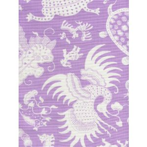 9010-02 INDRAMAYU REVERSE Lavender on White Quadrille Fabric