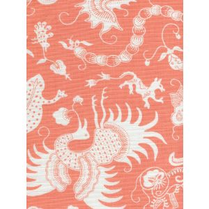 9010-01 INDRAMAYU REVERSE Melon on White Quadrille Fabric