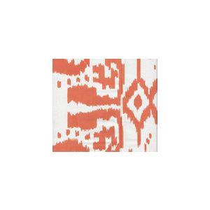 6460SU-102 ISLAND IKAT Orange on White Quadrille Fabric