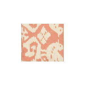 6460-07VSUN ISLAND IKAT Salmon on Vellum Quadrille Fabric