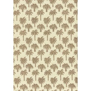 814-04 ISLAND PALM Brown Quadrille Fabric