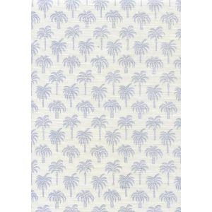 814-01 ISLAND PALM Cornflower Quadrille Fabric