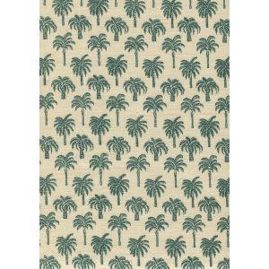 814-05 ISLAND PALM Green Quadrille Fabric